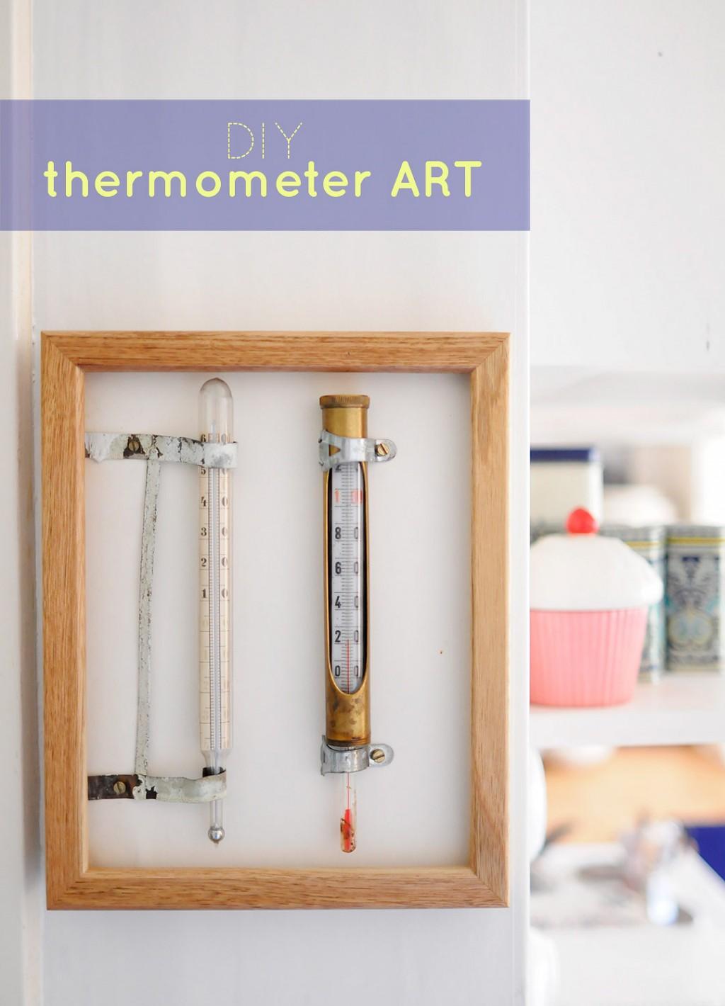Itse tehtyä lämpömittaritaidetta