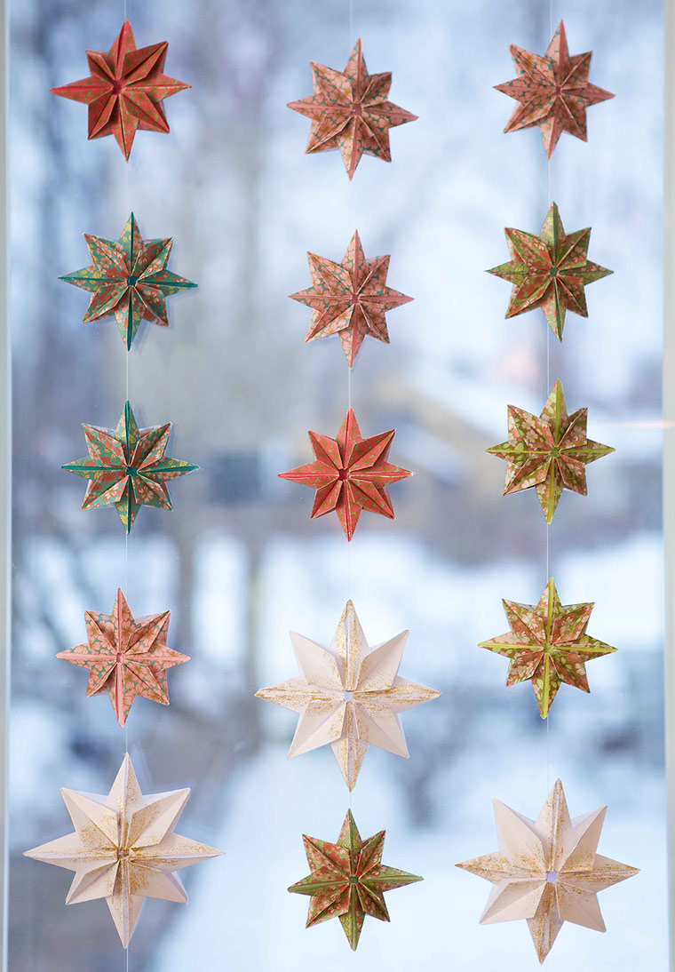 Paper Star Curtains