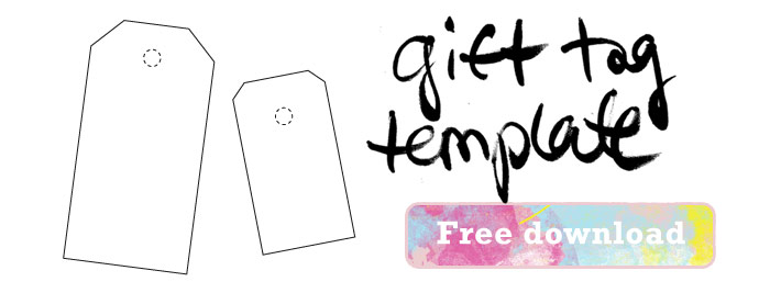 Download free gift tag template