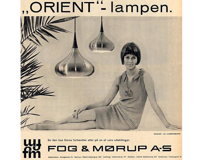 Original ad of the Orient lamp