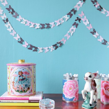 DIY Butterfly Garland
