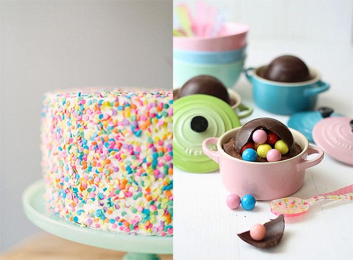 Confetti Cake And Pinata Cup Cakes