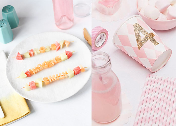 Fruit Kabobs And Pink Decor