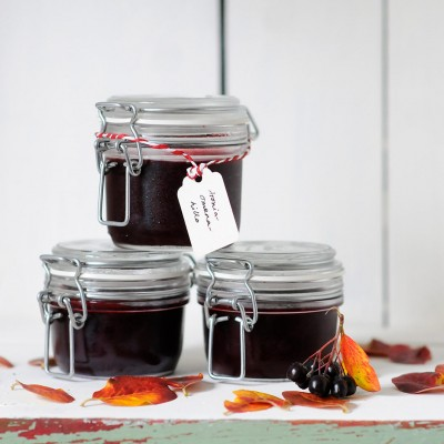 Homemade Aronia And Apple Jam