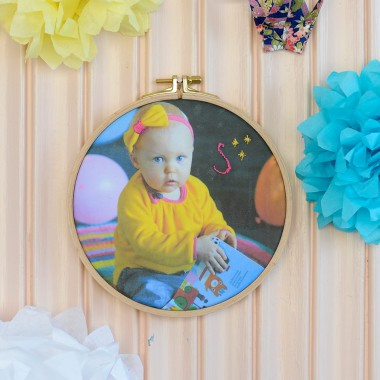 DIY Embroidered Photo