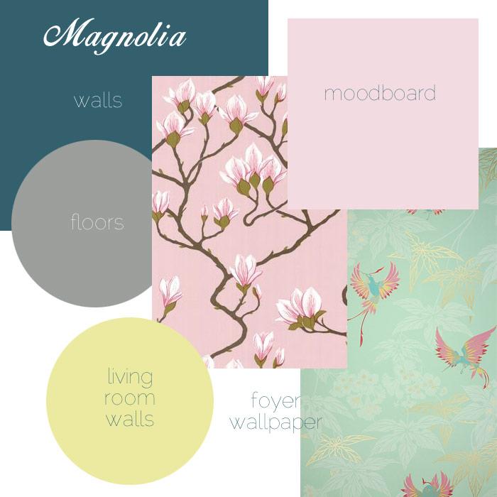 Homeoffice moodboard - Magnolia