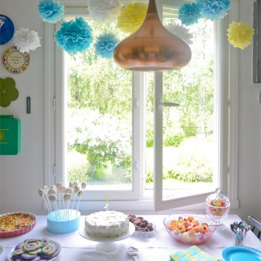 Rainbow Party for My Son's First Birthday