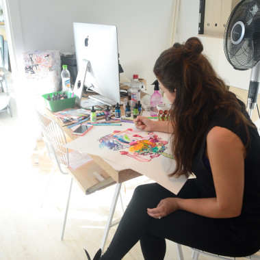 Susanna Sivonen Live Painting at MIA Design
