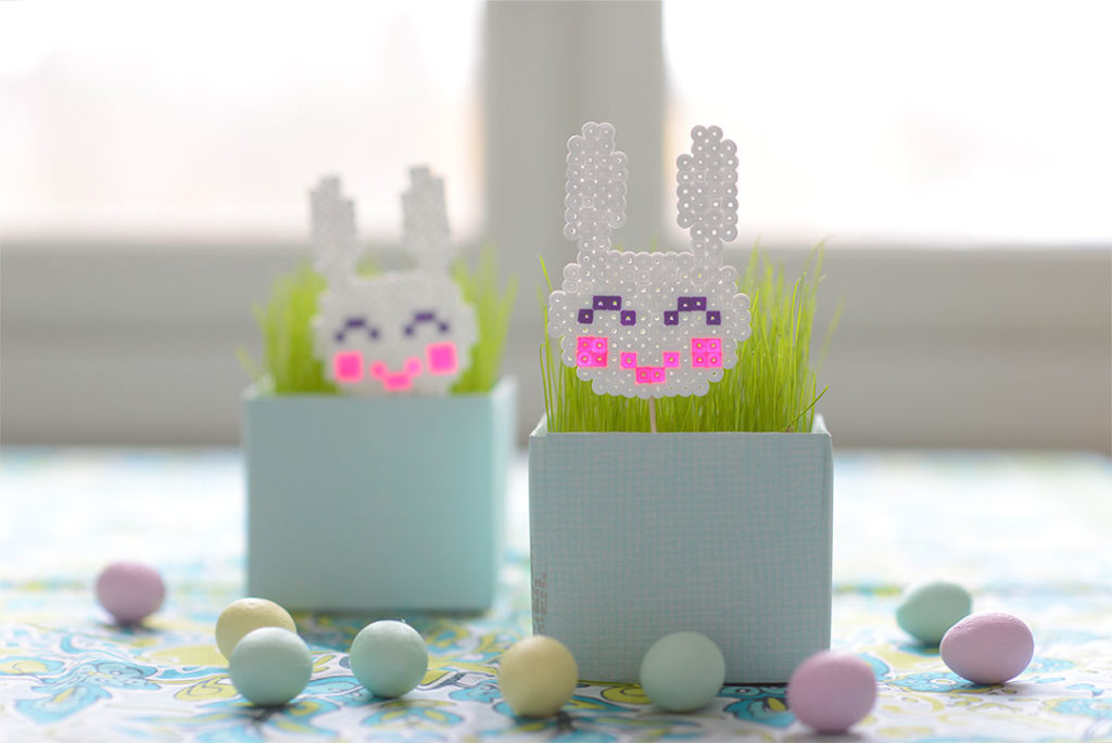 Cute Hama Bead Bunnies for Easter