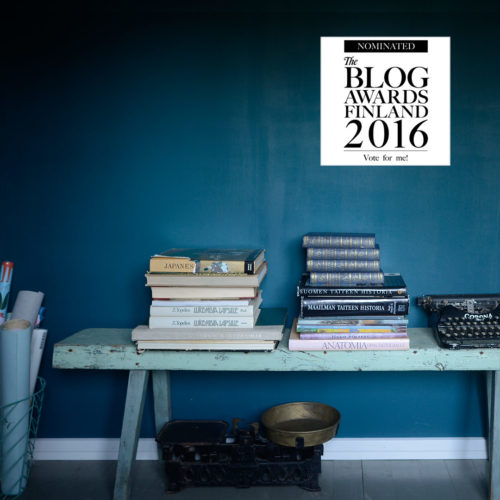 Nominated for Best Interior Blog at The Blog Awards Finland 2016