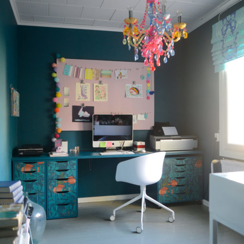 Ikea Hack: New Desk with Nautilus, Paint And Ikea Drawers